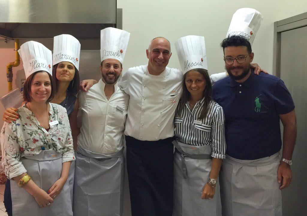 Executive Chef Luca Molteni e la brigata di blogger